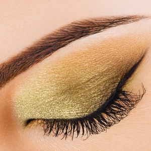 Add some holiday cheer with shimmery eyeshadow