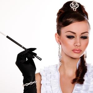Try an Audrey Hepburn-inspired updo