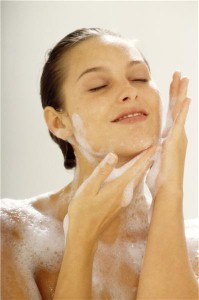 Shower-friendly skin care products