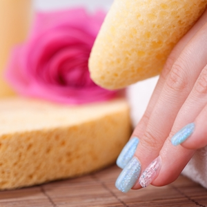 Use sponges to create spectacular nail designs